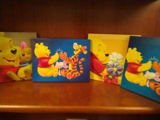 4 lienzos Disney
