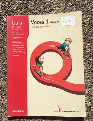 Libro lengua castellana. Primero primaria
