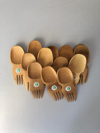 Sporks de bambú (8)