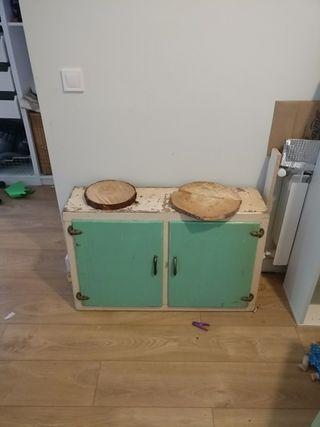 mueble años 60 de cocina