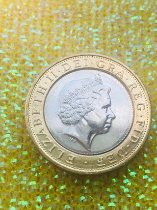 2 pounds coin technology 2015. UNC .
