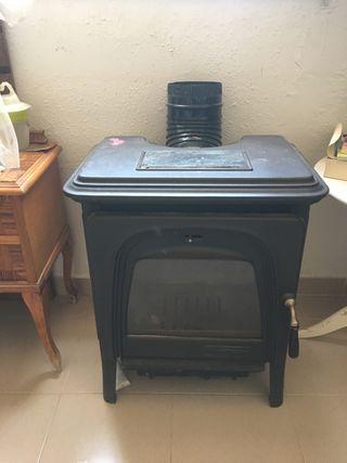 Estufa de leña hierro colado