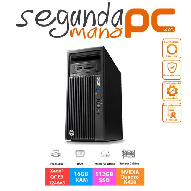 HP Z230 Workstation - Xeon E3-1246v3 - 512GB SSD