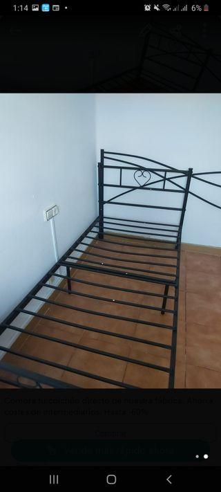 cama individual, cabecero 60 €
