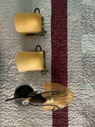 Plafones de pared cristal lamparas