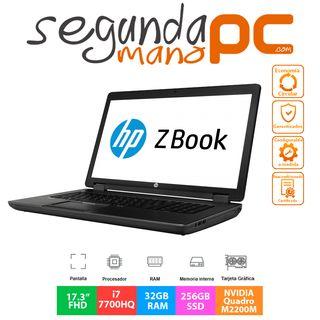 HP ZBook 17 G4 - Core i7 - 32GB RAM - 256GB SSD