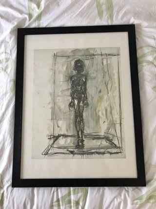 Lamina enmarcada de Alberto Giacometti