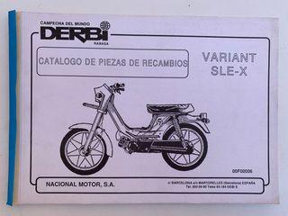 Catálogo piezas recambios Derbi Variant SLE-X