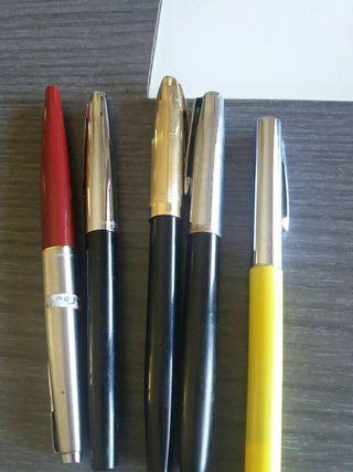 plumas y bolígrafos de marcas y plata