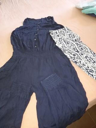 conjunto mono azul marino+ pantalon elastico.