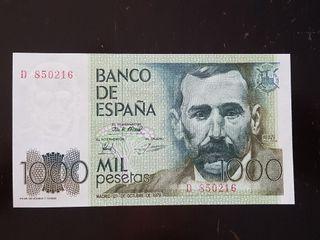 BILLETE 1000 PESETAS 1979 FALLO IMPRESIÓN
