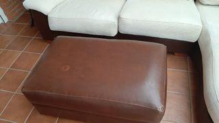 sofa 3 plazas con cheslong + reposspies