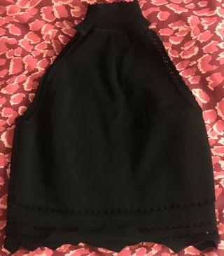 Top halter negro Zara