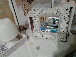 espejo antiguo restaurado.perfecto estado