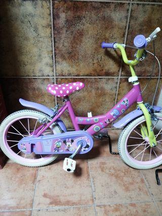 bici minie niña