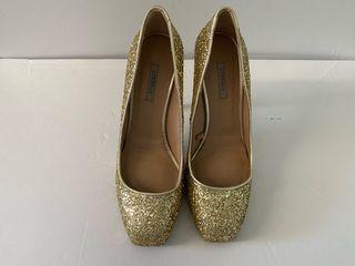 Zapatos glitter dorado uterque