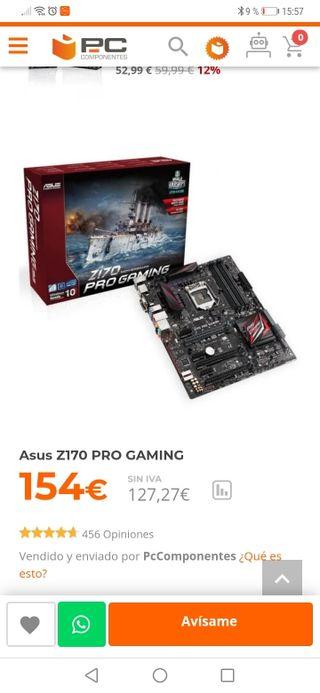 i7 6700k con placa Asus z170 pro y 16 gb ram