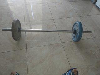 vendo pesa de 10 kilos cada pesa hace 20 kilos