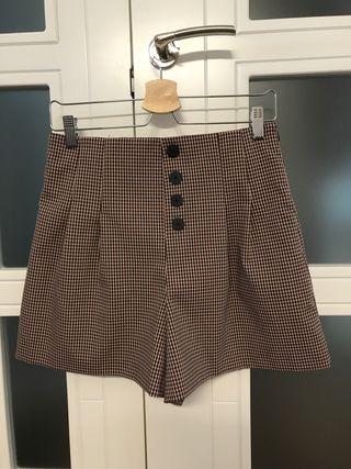 Shorts de tiro alto del Zara