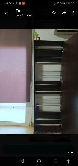 armario zapatero con espejo