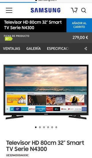 """Smart Tv 32"""" Samsung a extrenar"""