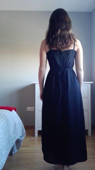 Vestido liso negro