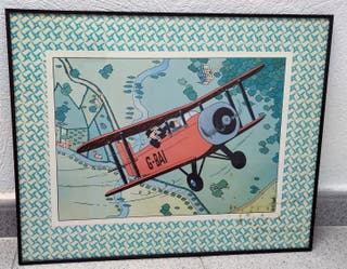 Cuadro Avión Tintin