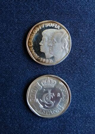 MONEDA DE 500 Pts Juan Carlos I, AÑO 1987 (Plata)