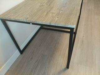 mesa centro baja tipo industrial
