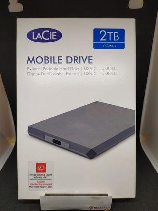 DISCO DURO EXTERNO LACIE MOBILE DRIVE 2TB (205593)