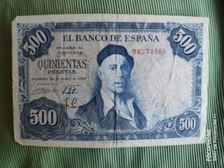 Billete 500 pesetas 1954 Zuloaga franco