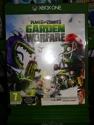 Juego xbox One Plants vs Zombies