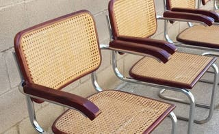 Set de 4 sillas Cesca (B64) de Marcel Breuer.