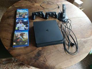 PS4 500Gb 3 JUEGOS 2 MANDOS Y CARGADOR DE MANDOS
