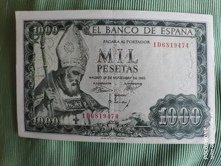 Billete 1000 pesetas 1965 san isidoro franco