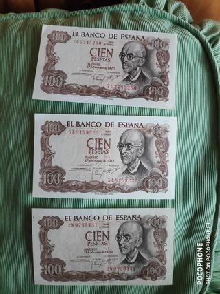 Billete 100 pesetas 1970 manuel de falla franco