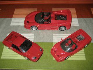 Lote maquetas Ferrari 1/24 y 1/18