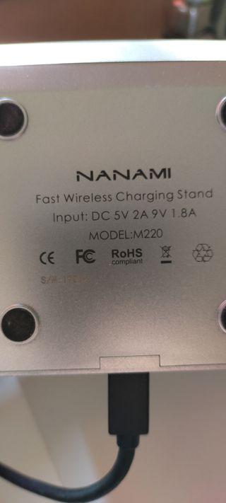 Cargador inalámbrico teléfono móvil NFC