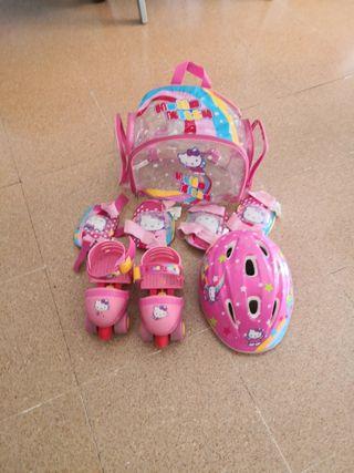 Patines de rueda Hello Kitty