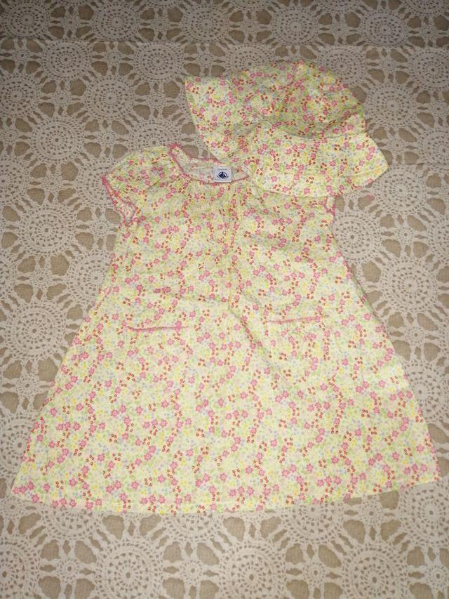 Vestido bebé niña 6 meses Petit Bateau