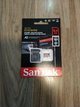 Micro SD 64 GB nueva a estrenar