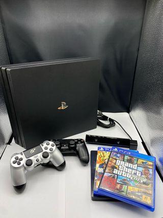 PlayStation 4 pro, 2 mandos, 3 juegos, Ps camera