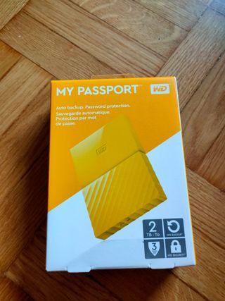 WD My Passport 2TB - Disco duro portátil