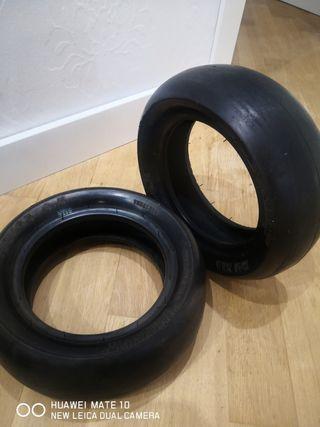 Neumáticos competición lisos para minimoto