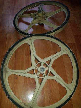 """pareja llantas bicicleta ruedas starx autoplas 20"""""""