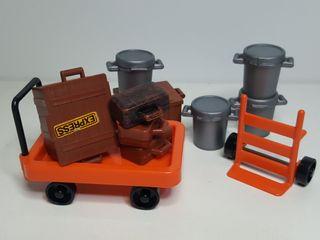 Set Carro Equipaje Playmobil 3206 Mozo Maleta