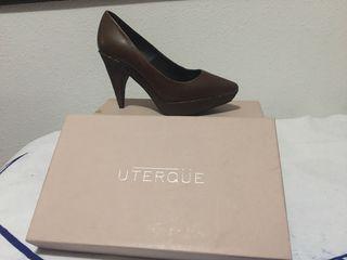 Zapato de tacón medio talla 38 uterqüe