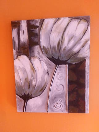 lienzo pintado al oleo