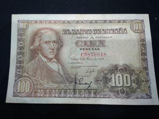 billete 100 pesetas 1948