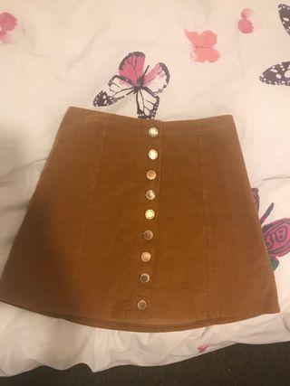 Camel short skirt